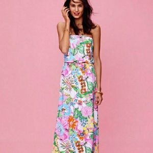 Lilly Pulitzer Nosy Posey Floral Maxi Dress Size S
